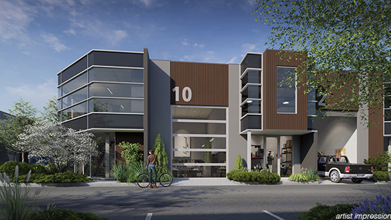 Toomuc Workspaces, Warehouse Frot Elevation - Warehouse for Sale Pakenham